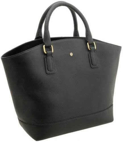 bb3366a38 Yoshi KINGSLEY Leather Zip Top Tote Bag With Detachable Shoulder Strap YB93  Black