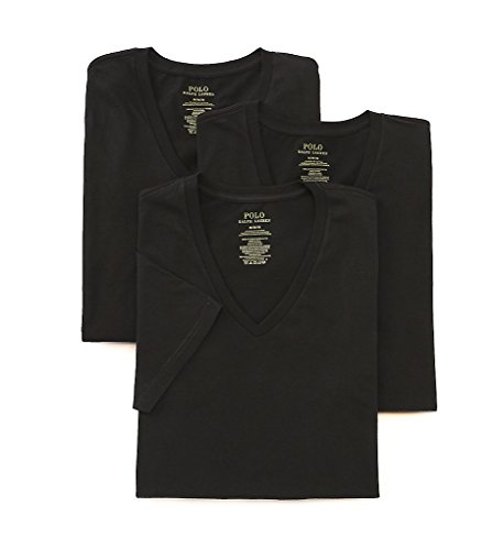 Polo Ralph Lauren Men's 3-Pack V-Neck T-Shirt Black T-Shirt
