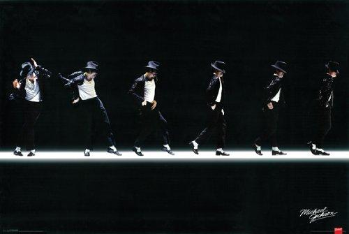 "Hot Stuff Michael Jackson Moonwalk 24"" x 36"" Poster Print"