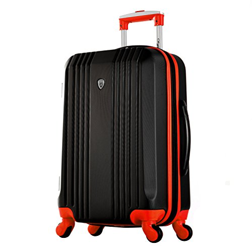Olympia Apache 3pc Hardcase Spinner Luggage Set, Black/Red by Olympia (Image #1)
