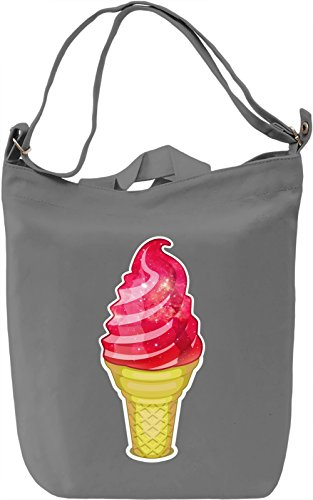 Cosmic Ice Cream Borsa Giornaliera Canvas Canvas Day Bag| 100% Premium Cotton Canvas| DTG Printing|