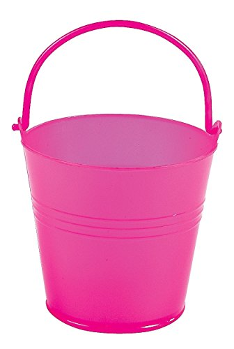 Fun Express Bright Hot Pink Plastic Pails (1 Dozen)]()