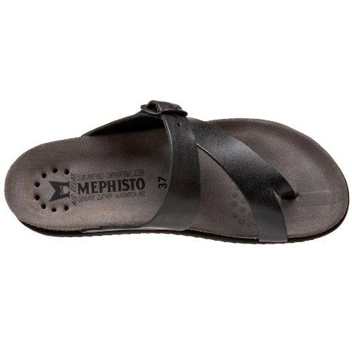Mephisto HELEN SANDANYL 2800 BLACK P1466218 - Chanclas de cuero para mujer Black