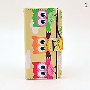 MOFY-Modelo colorido del bœho PU Leather Case Full Body y ranura para tarjeta para iPhone 5/5S (colores surtidos) , 3