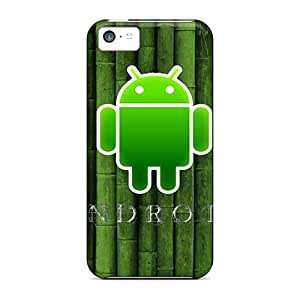 Defender Case For Iphone 5c, Android Bamboo Pattern