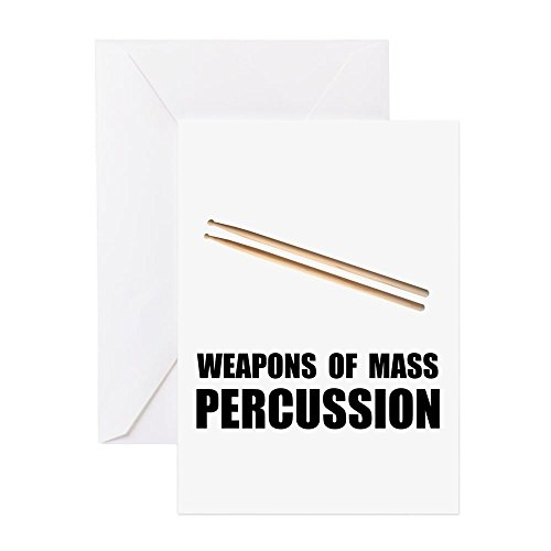 (CafePress - Drum Mass Percussion - Greeting Card, Note Card, Birthday Card, Blank Inside Glossy)