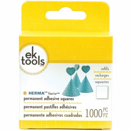 (EK Success E5500058 Vario Adhesive Tab Refill Permanent-1000/Pkg44; for Use in E5501074)