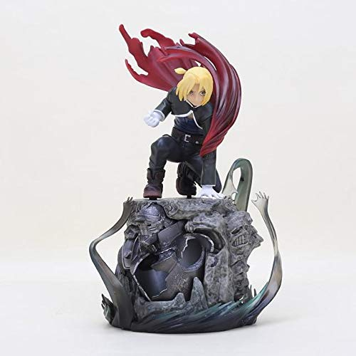 (Cholyme LLC Anime Fullmetal Alchemist Figure Toy Edward Elric Roy Mustang DXF PVC Action Figure Collection Brinquedos - Base Edward no Box - Code A2339)