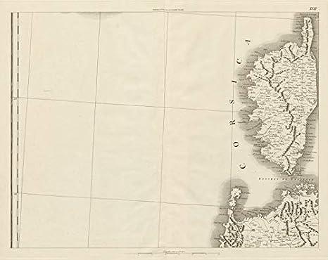Cartina Stradale Sardegna Nord Ovest.Corsica E Sardegna Del Nord Ovest Bonifacio Maddalena Chauchard 1800 Mappa Vintage Antica Mappe Stampate Della Corsica Amazon It Casa E Cucina