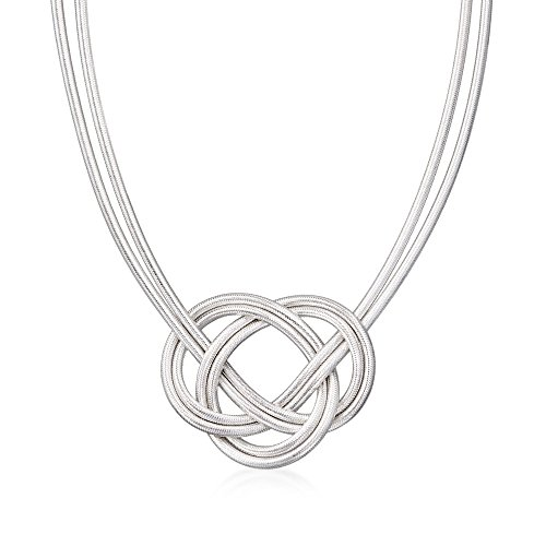 - Ross-Simons Celtic Flex Knot Necklace With Sterling Silver