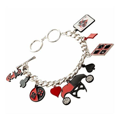 New Official DC Comics Harley Quinn Q 9 charms Bracelet Batman