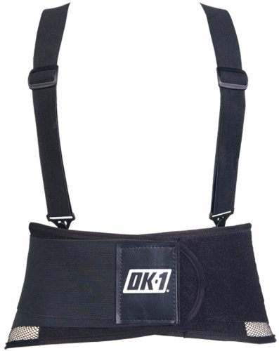 (OK-1 00489 Black Lumbar Back Belt,)