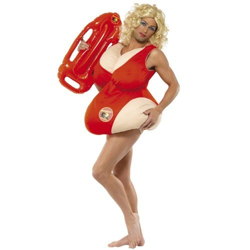Party Discount Big Girls' ! Baywatch Costume One One Size Fits All Red -