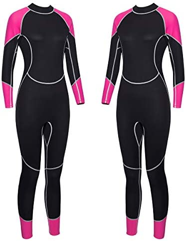 Niiwi Full Body Wetsuit – Men and Women 2.5mm Premium Neoprene – Scuba Diving Thermal Full Suit – Designed for Surfing, Snorkeling, Swimming, Kayaking, Water Sports