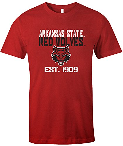 NCAA Arkansas State Indians Est Stack Jersey Short Sleeve T-Shirt, Red,Large