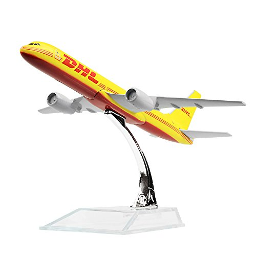 Diecast Airplne 1:400 DHL B757 Metal 6.3inches(16cm) Plane Model Office Decoration or Gift by LESES (Plane B757)