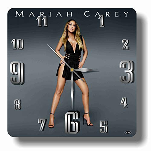 ART TIME PRODUCTION Mariah Carey 11'' Handmade Wall Clock - Get Unique décor for Home or Office – Best Gift Ideas for Kids, Friends, Parents and Your Soul Mates