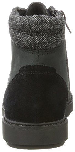 Botas Leather Vita Raisie Mujer Clarks para Black Negro OqEw5fT