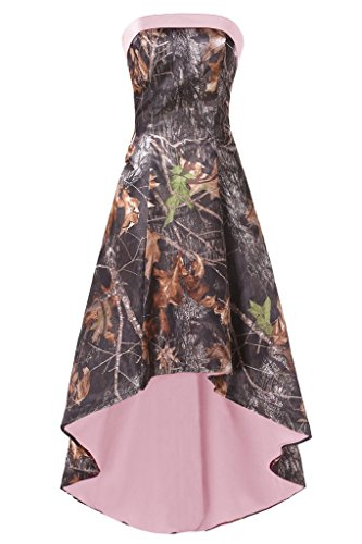 camo bridesmaid dresses with pink - 9