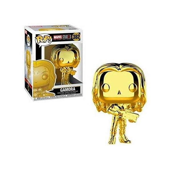41Qw808csvL Funko Pop Marvel: Marvel Studios 10 - Gamora (Gold Chrome) Collectible Figure, Multicolor