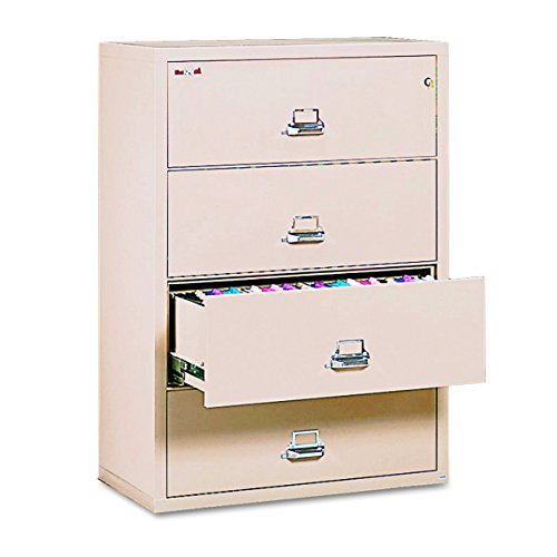 Fireproof Lateral File Cabinet, 4 Drawers, 52.75n H x 37.5in W x 22.13in D, Made in The USA