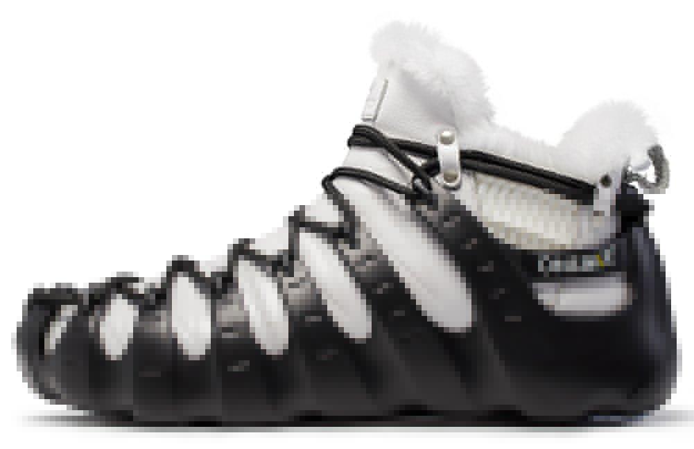 [ワンミックス]ONEMIX スノーブーツメンズレディース 秋と冬暖かく保つプラスカシミア 防水滑り止め2017リアルレザーブーツ B077DD74SW 24.0 cm ブラック/ホワイト