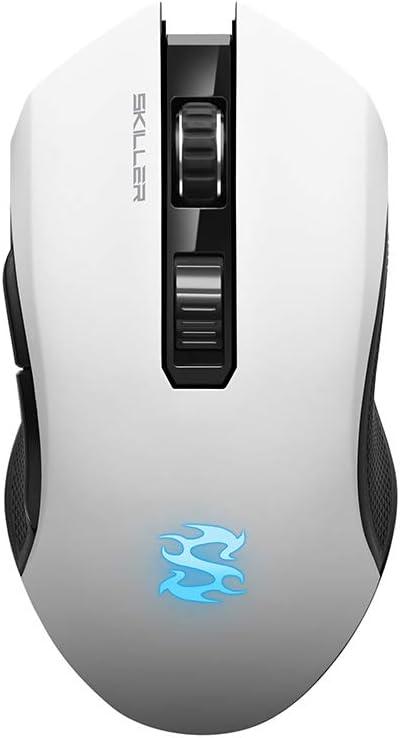 Sharkoon SGM3 - Ratón Gaming Óptico Inalámbrico, 6000 DPI, 7 Botones, Blanco