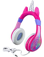 Unicorn Kids Headphones, Adjustable Headband, Stereo Sound, 3.5Mm Jack, Wired Headphones for Kids, Tangle-Free, Volume Control, Foldable, Childrens Headphones Over Ear for School Home, Travel Hassle