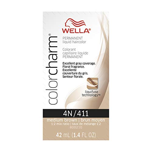 Wella Color Charm Liquid 4n Medium Brown, 1.42 oz.