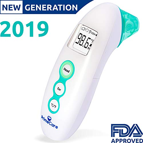 Digital Medical Infrared Forehead & Ear Thermometer [New Features 2019] | Suitable for Baby, Kid & Adult | Temperature & Fever Indicator | Instant Accurate Read | FDA, CE Approved | Great Gift Idea