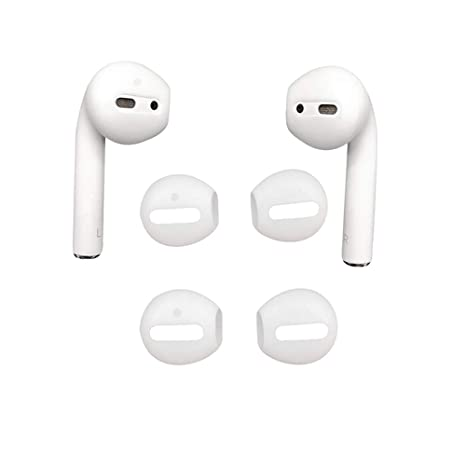 brand new 61e98 45924 DamonLight {Fit in The case} Airpods Earpods Covers Anti-Slip Silicone Soft  Sport Covers Accessories Apple AirPods Earbud airpods eartips 2 Pairs ...