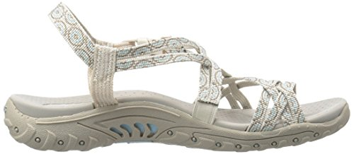 Skechers Womens Reggae-Happy Rainbow Sandal Natural