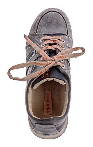 Herren echt Leder Schuhe TMA 4119 Schnür Halb Schuhe Sneaker Comfort Sportschuhe Gr. 41-46 Navy