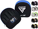 RDX Kids Boxing Pads Focus Mitts, Maya Hide Leather Curved Junior Hook and Jab Target Hand Pads, Great for Youth MMA, Martial Arts, Muay Thai, Kickboxing and Karate Training, Coaching Strike Shield