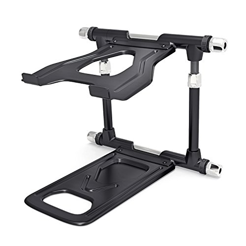 CRANE Stand Elevate Universal Stand for Laptops, Tablets and Projectors with Faux-leather Carry Bag, Black