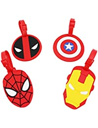 Set of 4 - Travel Luggage Tags Bag ID Tag with Strap