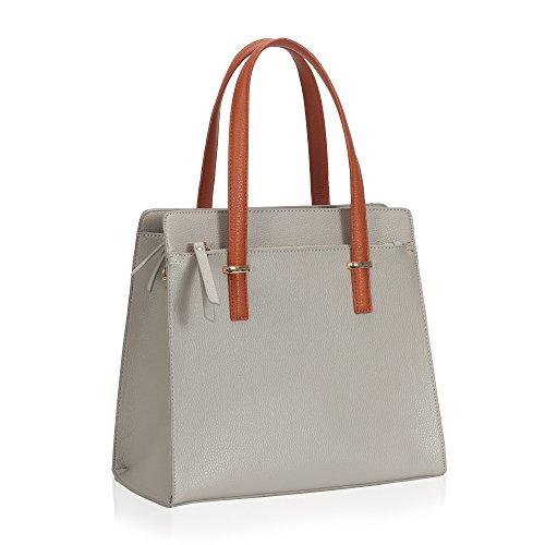 Hynes Victory Sweet Ladies Tote Handbag (Grey+) - Gold Tone Eagle Top