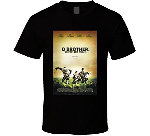 O Brother Where Art Thou Cool 21st Century Comedy Classic Movie Poster Fan T Shirt XL Black