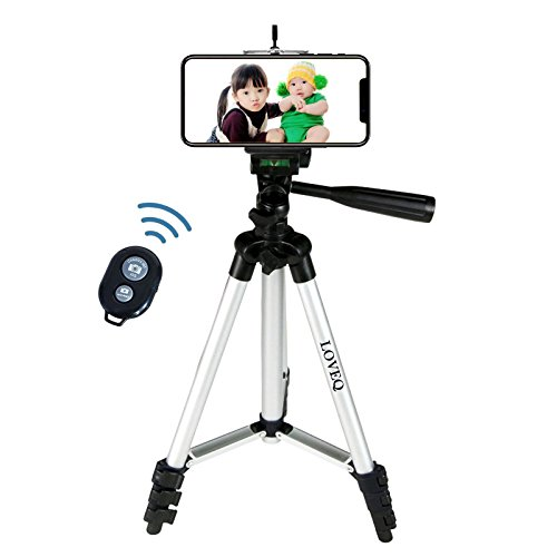 Price comparison product image LOVEQ Lightweight Camera Cell Phone Tripod with Bag with Remote