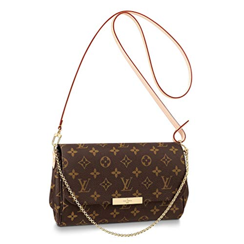 TAFULOR The TAFULOR Favorite medium size handbag is made of Monogram canvas, which can be handled by hand or shoulder or back.Equipped with removable shoulder strap and metal chain.Weekday carry, eleg -