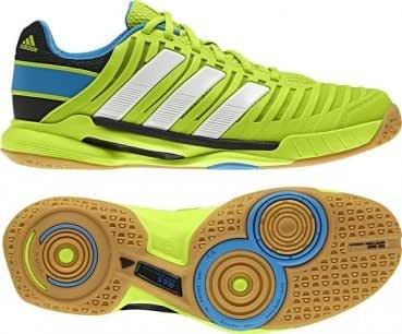 Adidas Adipower Stabil 10.1 Men's Indoor Court Shoe (8.5, Solar Slime/Solar Blue/White)