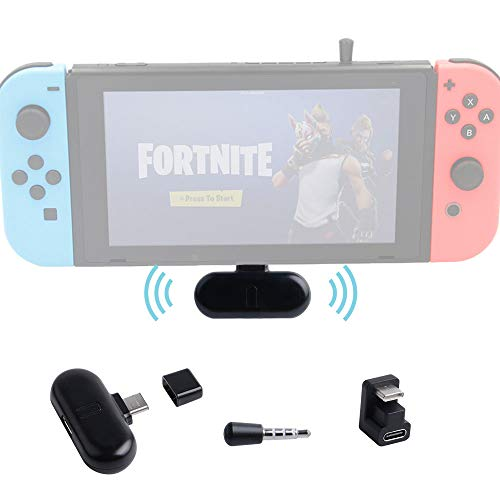 GuliKit Route+ PRO Bluetooth Audio Adapter Support in-Game Voice Chat aptX Low Latency USB C Wireless Bluetooth Audio Transceiver Compatible with Nintendo Switch