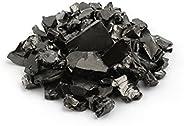 Heka Naturals Elite Shungite Stones for Water Purification | Silvery Shine Raw Elite Noble Shungite Detoxifica