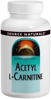 SOURCE NATURALS Acetyl L-Carnitine 500 Mg Tablet, 120 Count