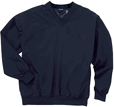 Rivers' End Mens Lined Microfiber Windshirt Athletic Outerwear Jacket, Navy, XXL