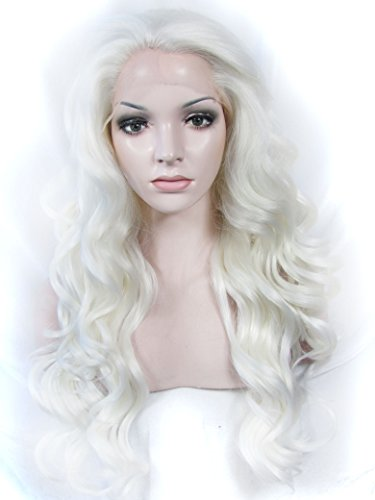 Imstyle® Drag Queens White Long Body Wavy Cosplay Lady Gaga Style Synthetic Lace - Gaga Style Lady