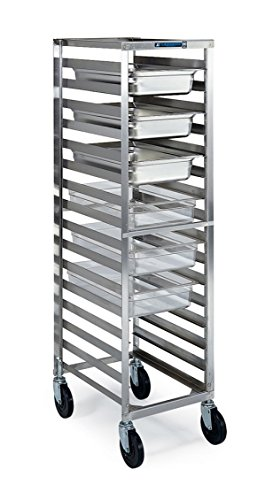 Lakeside 180 Polycarbonate Box and Steam Table Pan Rack, Stainless Steel, 16 Ledges, 15-7/8'' x 22-1/4'' x 58-1/2'' by Lakeside