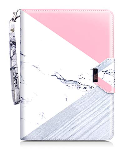 Dailylux iPad 9.7 2018/2017 Case,Marble 360 Degree Rotating Slim Stand with Auto Wake/Sleep Protective Case for Apple iPad 9.7 (iPad 5, iPad 6) Card Slots,Marble Rose Gold