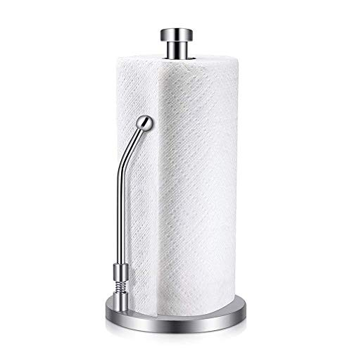 (Awekris Paper Towel Holder Countertop Kitchen Towels Napkin Holder Stainless Steel)