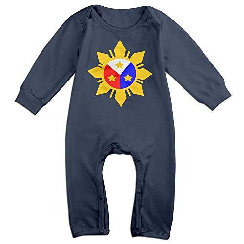 TYLER DEAN Newborn Baby Organic Coverall Philippine Flag Logo Design Infant Long Sleeve Romper Jumpsuit Navy]()